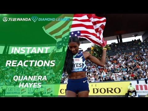 Race And Reaction - Quanera Hayes Wins The Women's 400m - Wanda Diamond League