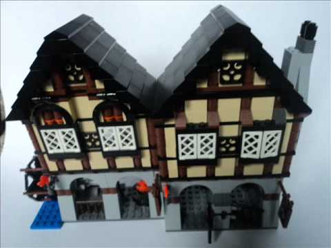 Lego Castle Medieval Market Village Review - YouTube