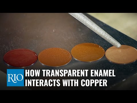 How Transparent Enamel Interacts with Copper