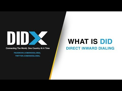 What is DID | Direct Inward Dialing | DIDX.net