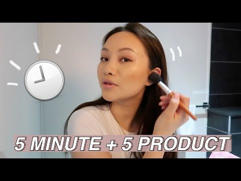 5 MINUTE 5 PRODUCT MAKEUP CHALLENGE   SACHEU
