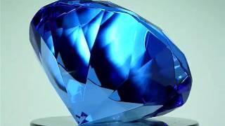 GLASS DIAMOND PAPERWEIGHT AQUAMARINE