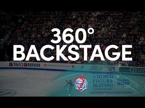 Ladies Free Skating Warm Up Room - Milano 2018 - 360°