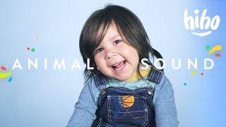 100 Kids Make Their Favorite Animal Sounds 🐶 | 100 Kids | HiHo Kids