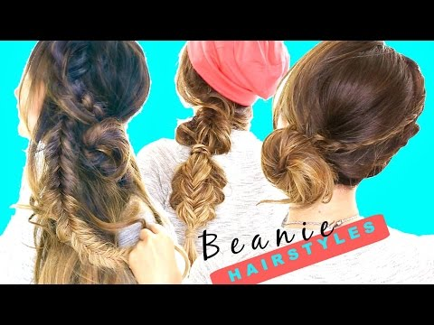 3-cute-back-to-school-hairstyles-★-easy-beanie-braids-for-long-medium-hair
