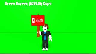 Green Screen ROBLOX Clips: 'Bacon' Subscriber Sign