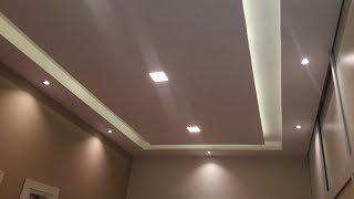 Rebaixamento em Drywall com rasgo de Luz