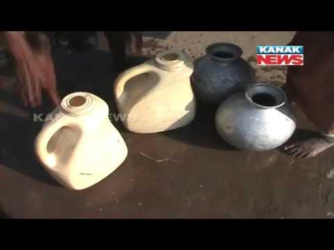Long Queue Near Water Tanker In Kendrapara's Village