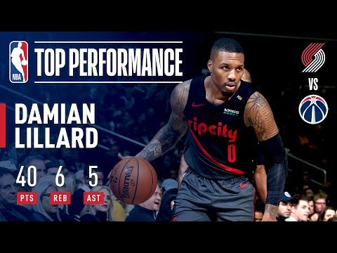 Damian Lillard Pours In 40 POINTS In The Nation's Capital | November 18, 2018