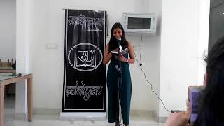 Kaviyatri Neha Dubey with her work  'gauriya' at Sahityam meet up