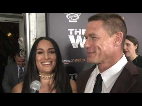 John Cena rocks the red carpet with Nikki Bella for THE WALL
