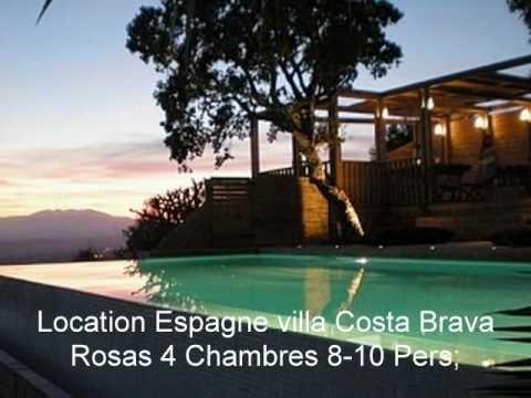 Vacances roses location villa rosas espagne youtube for Location garage rosas espagne