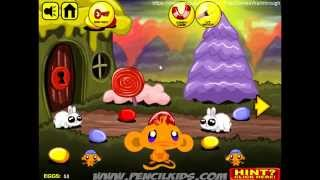 Monkey Go Happy Easter Fast Walkthrough