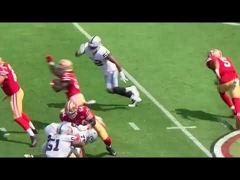 SF 49ers Expose Las Vegas Raiders Defense Weakness vs Read Option Running Plays