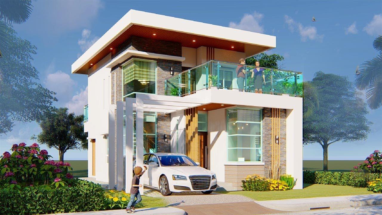 Minimalist 2 Storey House Design Youtube