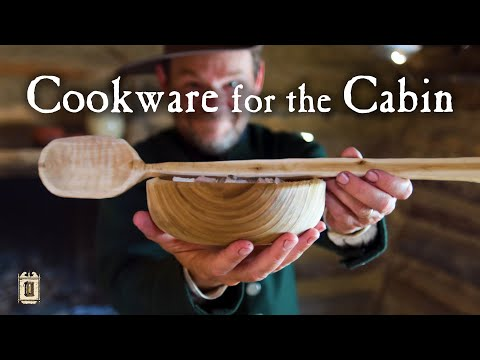 Hand Carving Spoon And Bowl - Our Cabin Needs Utensils