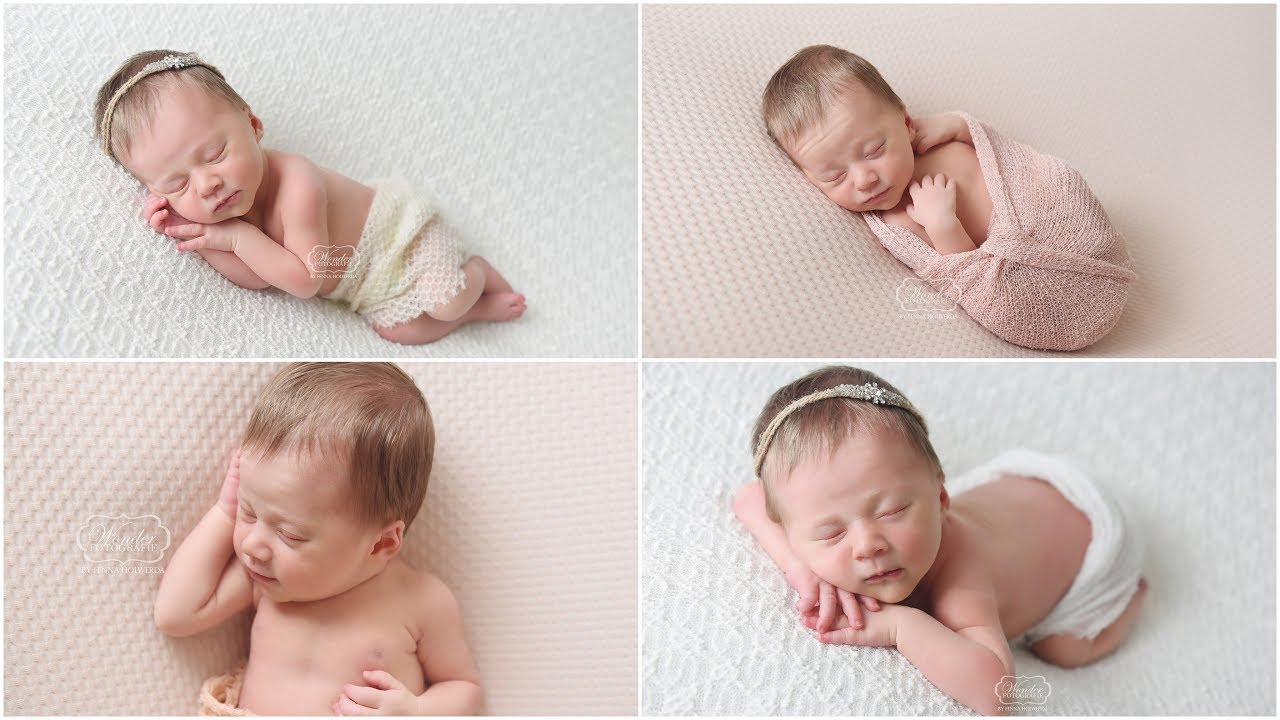 how to use a speedlight studio light and natural light during a newborn photoshoot