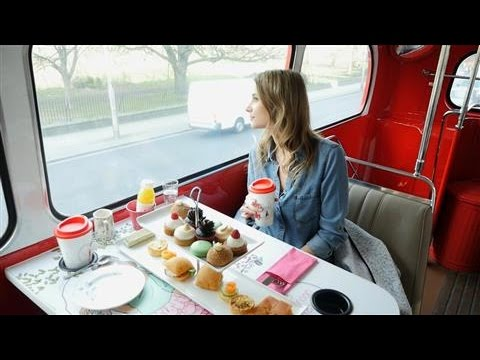 One Bump or Two? Afternoon Tea on a London Bus