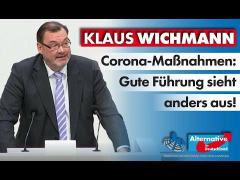 Corona-Maßnahmen: Gute Führung sieht anders aus! Klaus Wichmann, MdL (AfD)