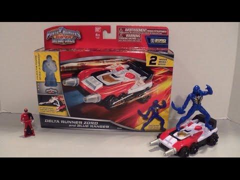 Power Rangers Super Megaforce SPD Delta Runner Zord Patrol Car Sound and Light !