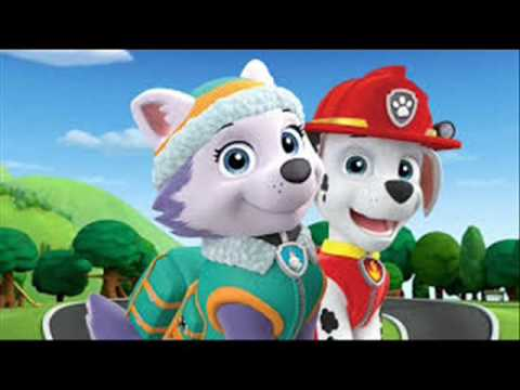 Paw Patrol Couples Skye & Chase Marshall & Everest (song I will always love you)