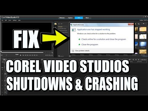 *FIX* COREL VIDEOSTUDIO CRASHING, HAS STOPPED WORKING &  RENDERING SHUTDOWNS (2019)