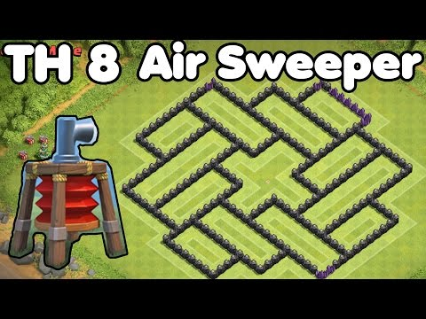 Clash of Clans Town Hall 8 FARMING Base With AIR SWEEPER Best TH8 Farming Base Defense Strategy