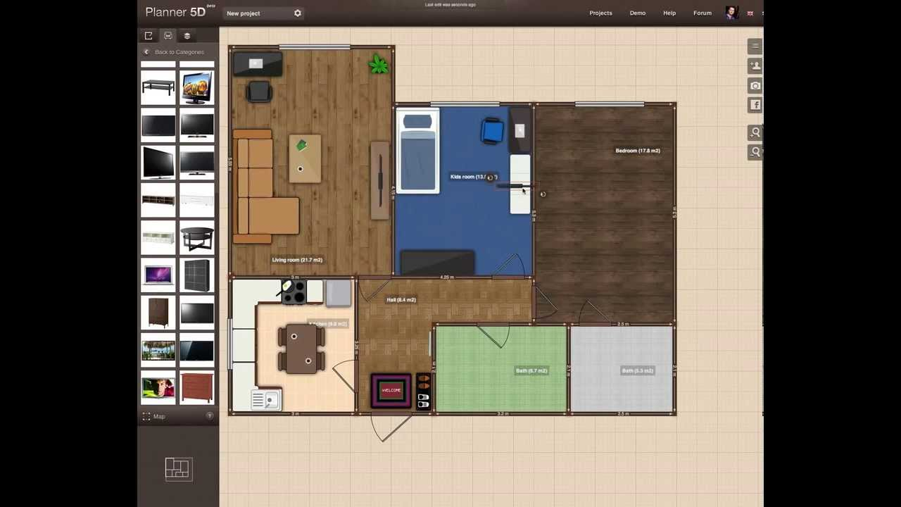 How To Make Floor Plans Fast And Easy With Planner 5d Youtube