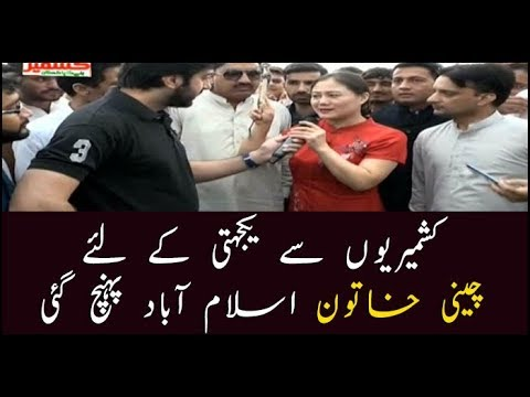 Chinese Woman Participates In Kashmir Hour Rally