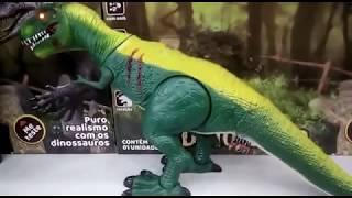 dinossauro t rex jurassic park world brinquedo com controle remoto e som real