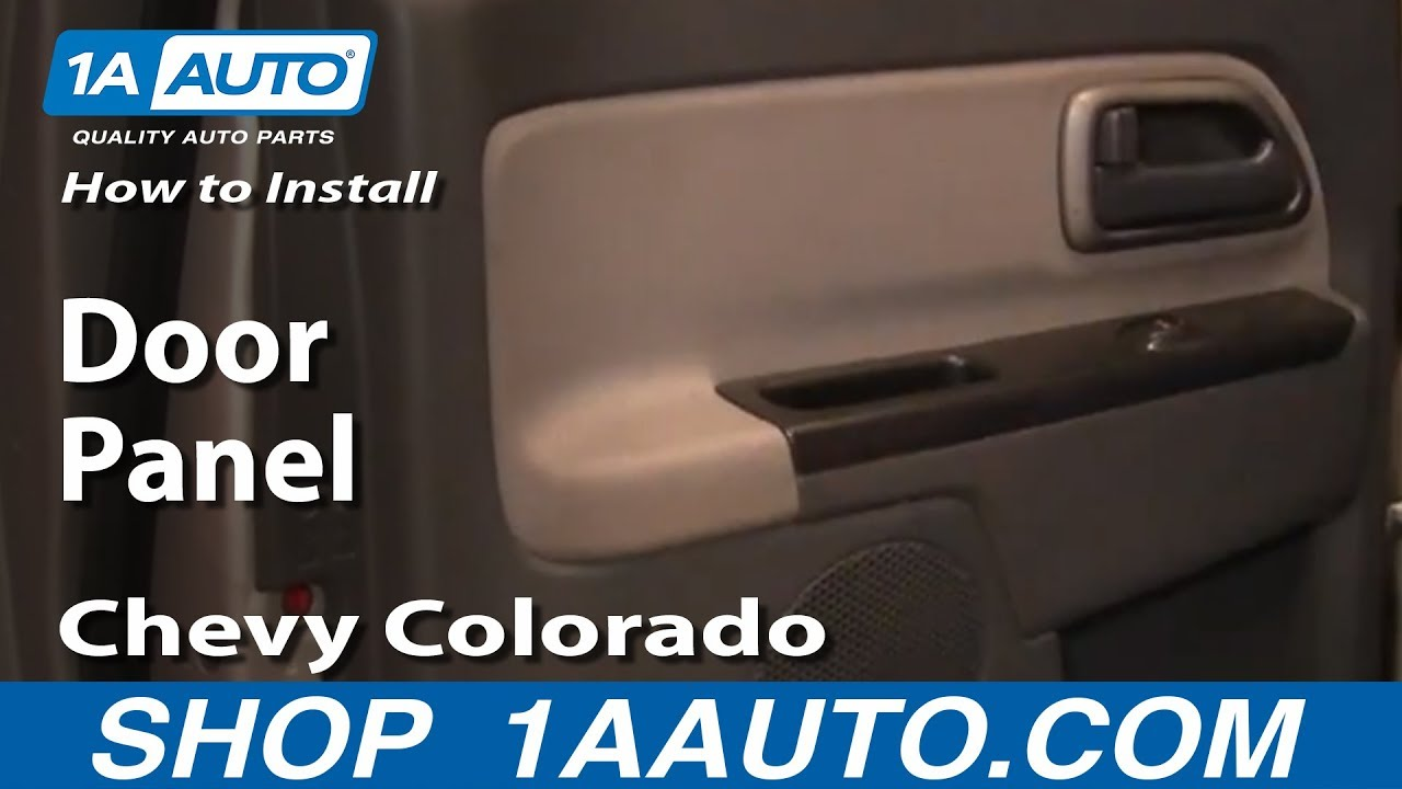 How To Install Replace Remove Rear Door Panel Chevy Colorado 1AAuto.com & How To Install Replace Remove Rear Door Panel Chevy Colorado ...