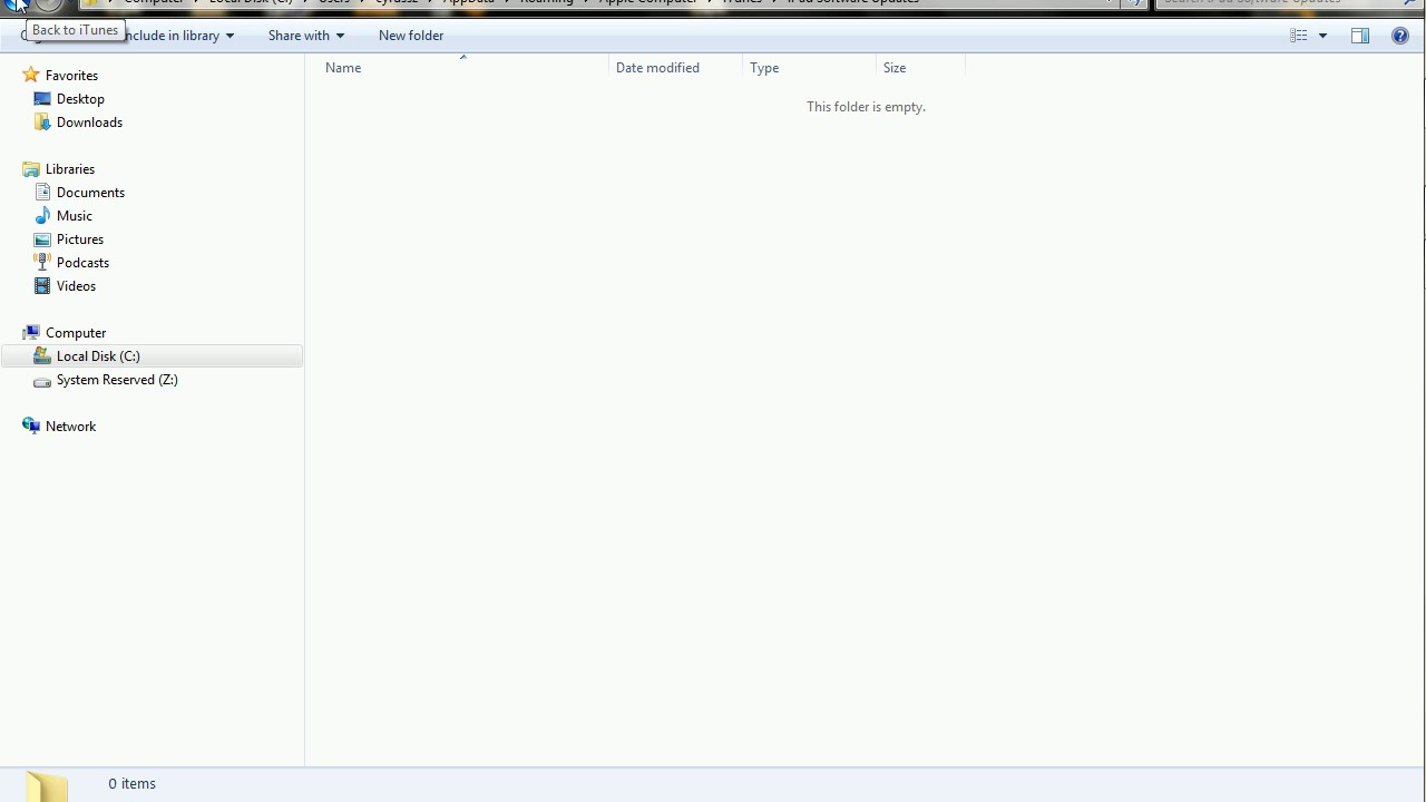 how to locate ipsw restore file downloaded by itunes on