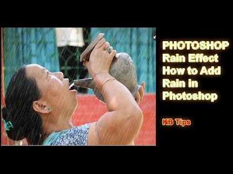 PHOTOSHOP 👉 Rain Effect || How To Add Rain In Photoshop || KB Tech