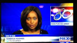 Jacksonville, FL News anchor gets caught when camera switches back to him