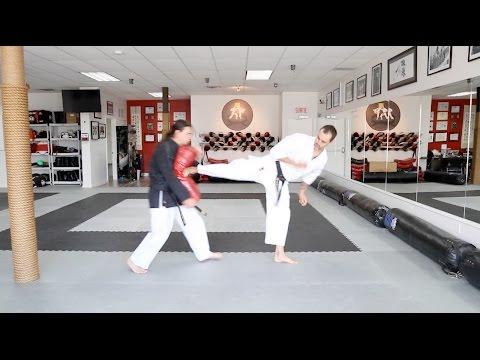 Karate KCRD - Yoko-geri (coup de pied côté)
