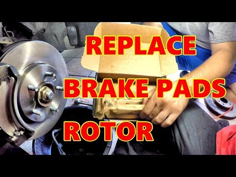 HOW TO REPLACE Front BRAKE (PADS and ROTORS) | SATURN VUE 2008