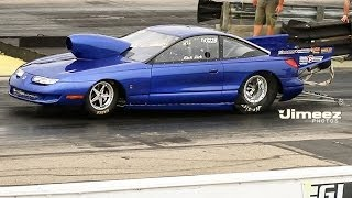 """""""WORLDS FASTEST SATURN"""" T/S AT BYRON DRAGWAY 6-21-14"""
