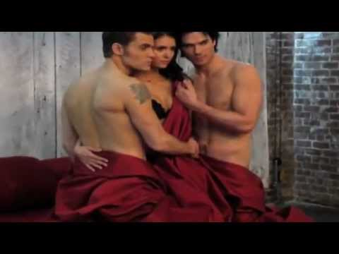 The Vampire Diaries - Season 3 - Ian, Nina & Paul - BTS Video of EW Magazine Cover Shoot