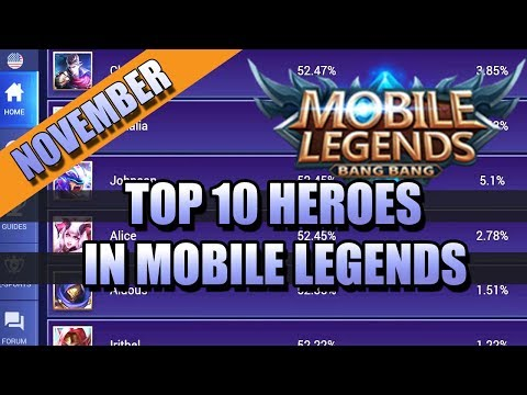 TOP 10 HEROES IN MOBILE LEGENDS FOR NOVEMBER