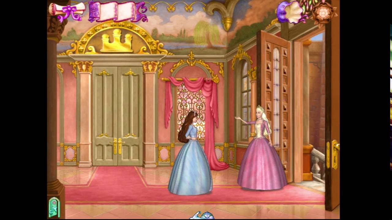 gaming the princess and the pauper barbie pc game part
