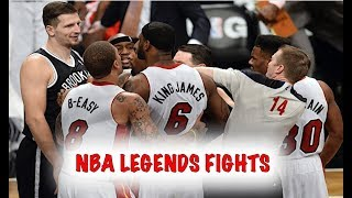 NBA - Greatest Players of All Time (Fights, Brawls, and Altercations)