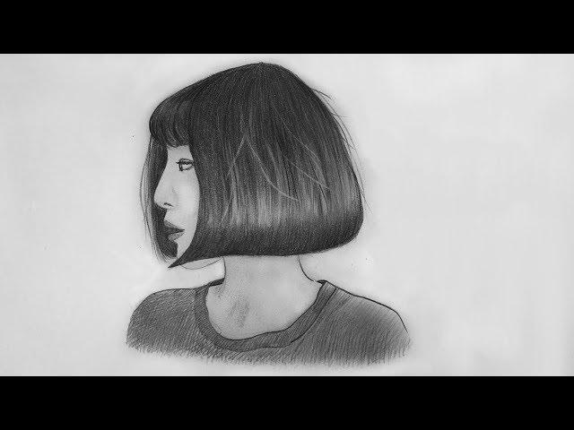 H??ng d?n v? tóc ??n gi?n | Simple hair Simple hair drawing