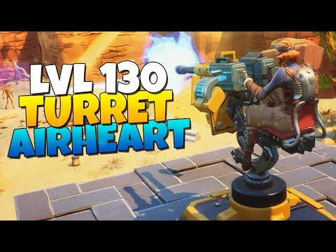 LEVEL 130 TURRET CONSTRUCTOR AirHeart IS SHE GOOD? | Fortnite Save The World