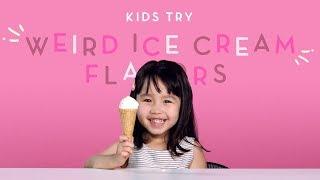 Дети Пробуют Мороженое Со Странными Вкусами!