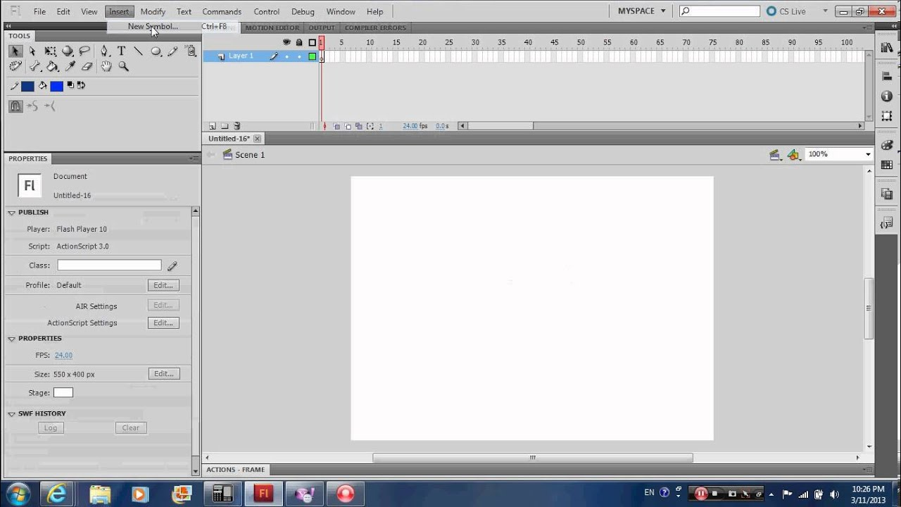 adobe flash cs5 how to use motion guide layer to create motion tween rh youtube com Photshop CS5 Adobe Flash Cs5.5