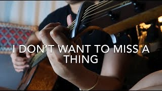 I Don't Want To Miss A Thing - Aerosmith (KAYE CAL Acoustic Cover / with LYRICS)