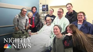 Man Who Wore Shirt Seeking Kidney Donor Finds His Match—And A Friend | NBC Nightly News