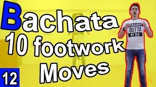 Bachata Tutorial Footwork #12 : 10 Basic Steps in Bachata | #MariusElenaBachata 2019