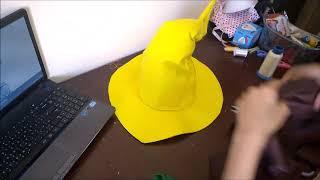 cosplay şapka yapmak nasıl? Yapmak FF Mage Hat Eğitimi Bölümü bana şapka kadar?
