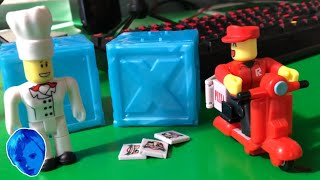 ROBLOX TOYS WORK AT A PIZZA PLACE IN REAL LIFE AND ICE BLUE SERIES 3 MYSTERY BOXES FROM JAZWARES